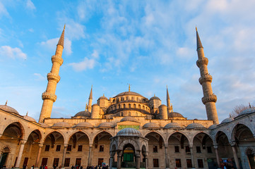 The Blue Mosque at Sunset in Istanbul