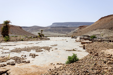 Morocco, Draa valley, Stone river