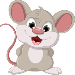 cute fat mouse cartoon