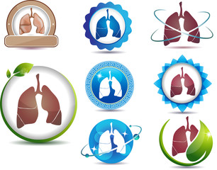 Lungs. Great collection of lungs symbols.