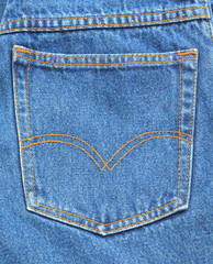 Blue jeans pocket.