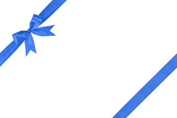 blue simple tied ribbon bow composition
