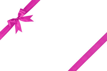 purple simple tied ribbon bow composition