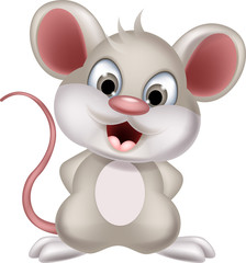funny mouse cartoon smiling