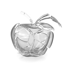 Broken glass apple