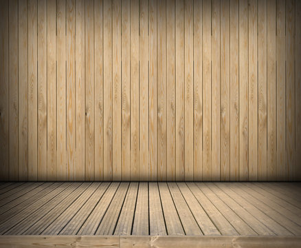 Wooden empty stage