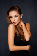 Beautiful sultry sexy young woman