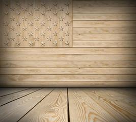 American symbol interior room