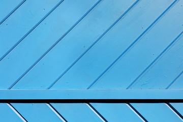 Blue Wooden Slats Background