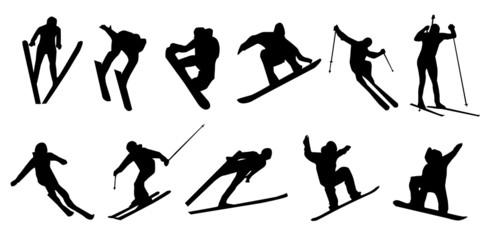 ski jumping snowboard