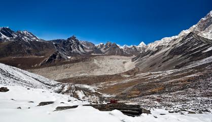 Panorama of Mountain landscape in Sagarmatha, Nepal
