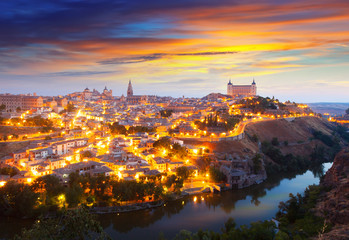Picturesque view of Toledo in morning
