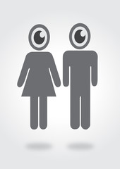 Eye icon character design