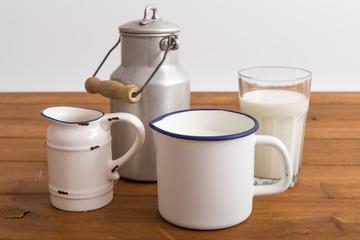 Milch und Sahne