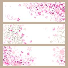 Beautiful pink horizontal banners