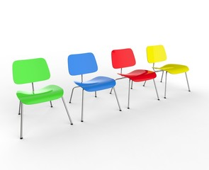 Row Of Colorful Office Chairs