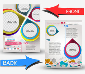 Interior Decorator Front & Back Flyer Template