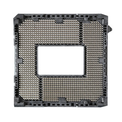 Central Processing Unit Socket (CPU socket) isolated on white ba