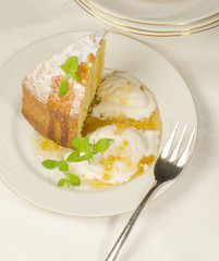 A cake made of maize flour on plate