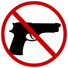 vector sign: no guns
