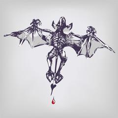 Zeichnung Vampir und Flughund