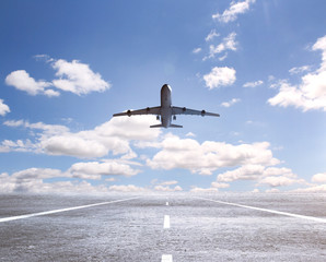 Wall Mural - airplane on runway