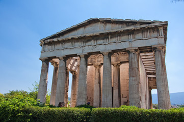 The Temple of Hephaestus. Athens, Greece.