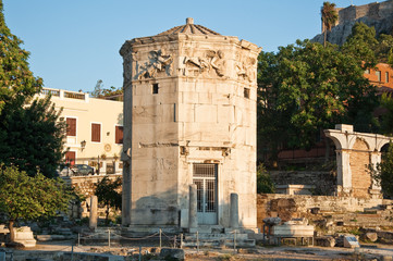 Tower of the Winds in Roman Agora. Greece.