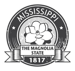 Stamp with name of Mississippi, vector illustration