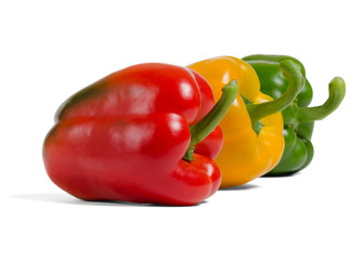 Miscellaneous colored fresh vegetables peppers