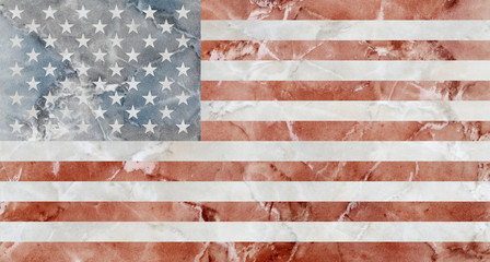 American Flag marble
