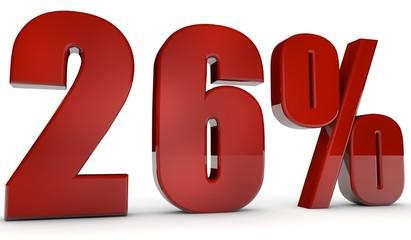 percent,26