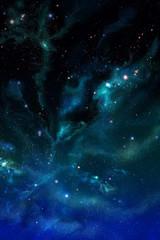 Star field in space, a nebulae
