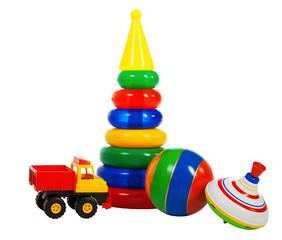 multi colored toys