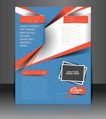 Fitness Center Back Flyer & Poster Template