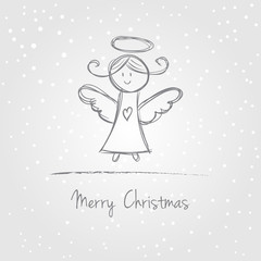 Christmas angel doodle