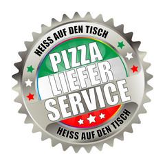 Bügel Button Kranz light Pizza Lieferservice