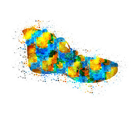 Abstract shoes, easy editable