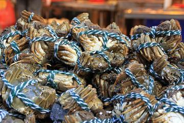 Krabben auf dem Markt