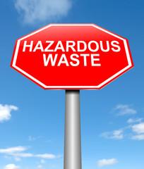 Hazardous waste concept.