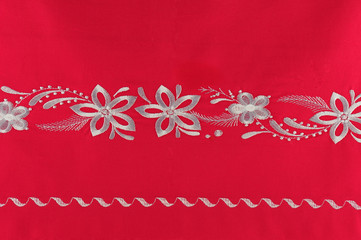 Turkish handmade fresco on special red fabric