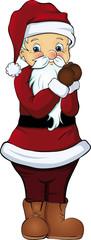 Weihnachtsmann betet