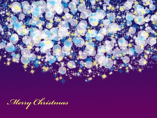 Abstract Christmas Background with bokeh