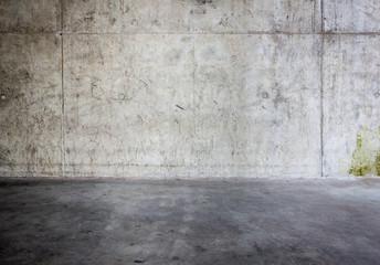 Fotorolgordijn Stenen Grungy concrete wall and floor
