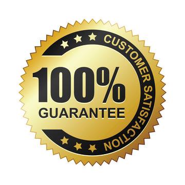 Customer satisfaction guaranteed gold badge