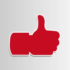 I Like mögen Erfolg Positiv Hand Daumen hoch