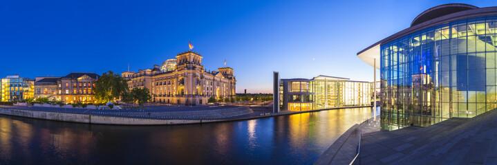 Foto op Canvas Berlijn Reichstag, River Spree, Berlin