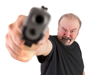 Big Man Pointed a gun on to Your Brain