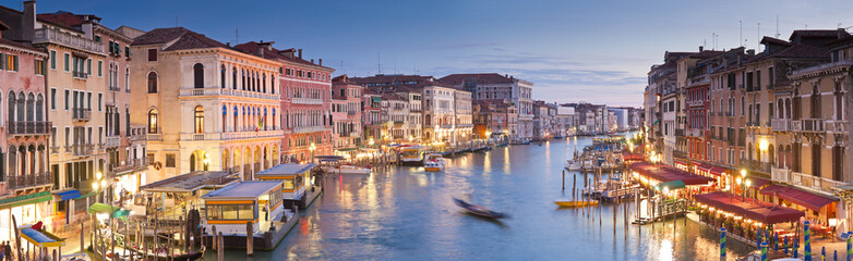 Canvas Prints Venice Grand Canal, Villas and Gondolas, Venice