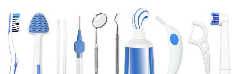 Instrumente zur Zahnpflege, dental hygiene